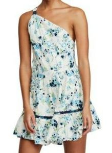 Free people white floral one shoulder dress